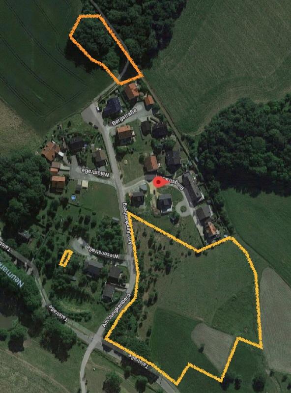 Lage der Grundstücke Luftbild
